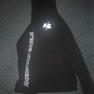 Men's black American eagle sweatshirt